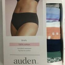 Auden Briefs Panties 6 Pair Underwear Women's Size Large 12-14 Cotton Tag-Free Photo