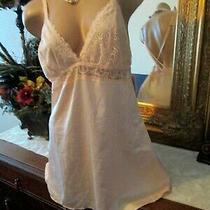 Auden Chemise Lace Trim Sleepwear Lingerie Nwt Peach Sissy Satin Babydoll Xl Photo