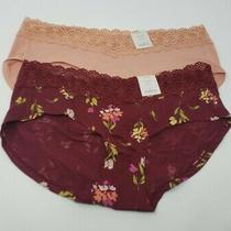 Auden Cotton Blend Hipster Womens Panties Size Medium (8-10) - 2 Pairs Photo