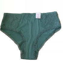 Auden Smooth Micro Cheeky Soft & Silky Panty Hipsters Moss Green 4x (28-30) Nwt Photo