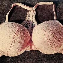 Auden the Radiant Pink Sexy Padded Push Up Bra Lace Overlay Front Closure Sz 34a Photo