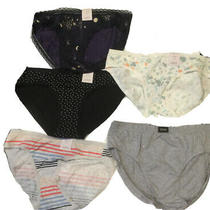 Auden Womens Cotton Blend Bikini Panties Hanes 5-Pack Size m(8-10) Photo