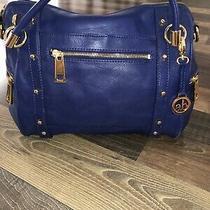 Audrey Brooke Medium Royal Blue Leather Shoulder Hobo Tote Satchel  Bag Photo