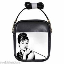 Audrey Hepburn Breakfast at Tiffany's 2 Leather Sling Bag Small Purse Photo