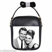 Audrey Hepburn Breakfast at Tiffany's 3 Leather Sling Bag Small Purse Photo