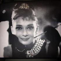 Audrey Hepburn Breakfast at Tiffany's Closeup Bling Handbag and Matching Wallet Photo