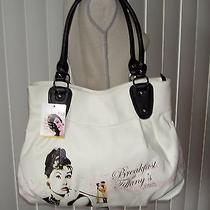 Audrey Hepburn Breakfast at Tiffany's Tote Bag by Radio Days White/black Unique Photo