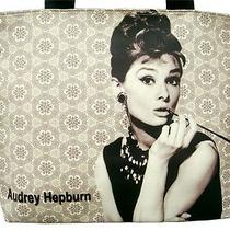 Audrey Hepburn Breakfast at Tiffanys Wide Tote Shoulder Bag Purse Handbag Photo