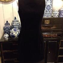 Audrey Hepburn Inspired Gap Brand Velour Cotton Black Jumper Dress Size 4 Chic Photo