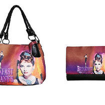 Audrey Hepburn Tote Bag and Wallet Combo Breakfast at Tiffany's New Inventory Photo