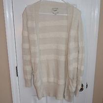 Augden New York Ivory Handmade Alpaca Wool Sweater Cardigan S Small Photo