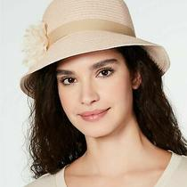 August Hat Co Lace Flower Cloche Hat Adjustable Band Sun Protection Blush Photo