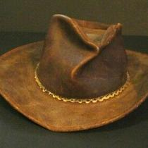 Aussie Minnetonka Genuine Leather Outback Hat Size Large Photo