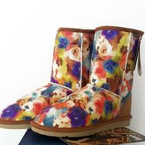 Australian Classic Ugg Boots 9 Jumbo Colourful Blooms Size 40 Pre Loved No Box Photo