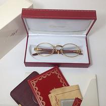 Autentic Eyesglasses (Sunglasses) Cartier Vintage Wood Giverny News Photo