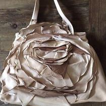 Auth 1595 Valentino Garavani Blush Pink Petale Rose Napa Leather Tote Purse Photo