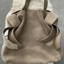 Auth Acne Studios Suede Musubi Fox Gray Maxi Tote Bag Photo