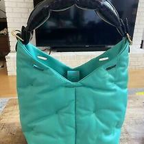 Auth Anya Hindmarch Small Build a Bag Handbag Chubby Green Leather Strap Handle Photo