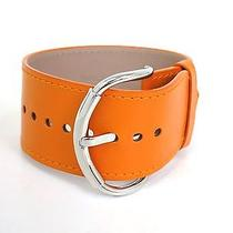 Auth Balenciaga Bracelet Leather Orange (Bf055539) Photo