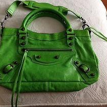 Auth Balenciaga Classic First Apple Green Neon Green So Rare Photo