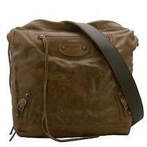 Auth Balenciaga Sac Brown  Leather Tote  Shoulder  Bag E-5438 Photo