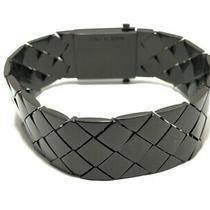 Auth Bottega Veneta Intrecciato Darkbrown Hardware Bracelet Photo