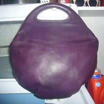 Auth Bottega Veneta Leather Round Bag Purple/plum/eggplant Purse Handbag Unique Photo