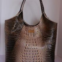 Auth Brahmin Croc Embossed Leather Melbourne Eclipse Large Shopper Tote 395 Photo