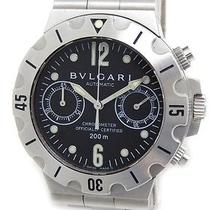 Auth Bulgari Wristwatches Sc38s Ss Watches (Y1058553) Photo