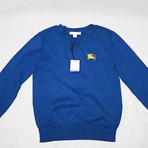 Auth  Burberry Children Boy's Cotton Blue Sweater 8 Photo