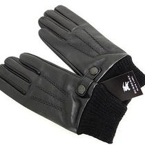 Auth Burberry Gloves Black Label Lambskin Wool Black Free Shipping 05110288900 2 Photo