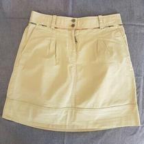 Auth Burberry London Beige Cotton Skirt Size 8 Us 42 It / Fits Better 6 Us Photo