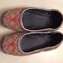 Auth Burberry Womens Ballet Slippers - Camel Plaid - Size Small Photo
