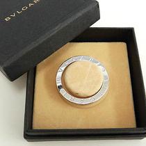 Auth Bvlgari Key Ring B-Zero1 Round Silver 925 Pendant Top 01110173100 N197 Photo