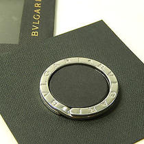 Auth Bvlgari Key Ring Made in Italy Sterling Silver 925 1-14-0910-1 Photo