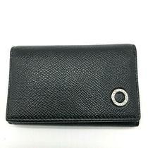 Auth Bvlgari Leather 6 Ring Key Case Holder Black Photo