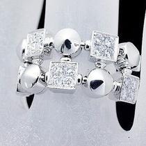 Auth Bvlgari Lucia Diamond Ring Size 5usa)(M 25.6.24) Photo