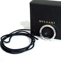 Auth Bvlgari Sterling Silver 925 Key Ring Pendant Top Head W/ Box & Choker Italy Photo