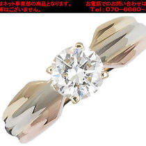Auth Cartier Diamond /0.56ct 3 Color Ring Size 4.55(usa)(S Y0370) Photo