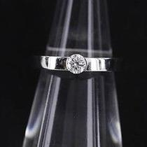 Auth Cartier K18 White Silver Gold Date With 0.21ct Diamonds Ring  Photo