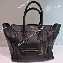 Auth Celine Classic Black Mini Luggage Smooth Calf Leather Tote Bag Photo
