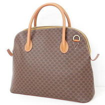 Auth Celine Hand Tote Bag Macadam M93 Leather Brown Italy 02110294800 1057 Photo