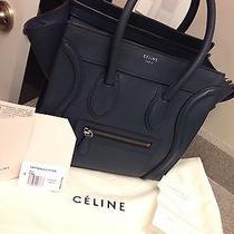 Auth Celine Micro Luggage 2013 New Colour Rare Dark Blue (Like New) Photo