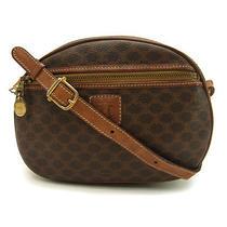 Auth Celine Shoulder Bag Seat Angle Mini Size Unisex Macadam Brown  Light Brown Photo