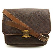 Auth Celine Shoulder Bag Seat Angle Shoulder Macadam Brown Leather M816 Photo