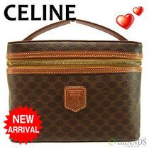 Auth Celine Vanity Macadam Brown Leather M614 Photo