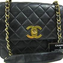 Auth Chanel Black  Leather  Coco Shoulder Bag Photo