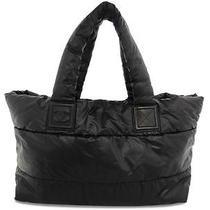 Auth Chanel Black Nylon Coco Cocoon Tote Bag Shoulder Bag Photo