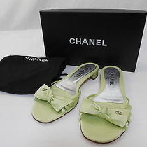 Auth Chanel Bow Coco Mark Sandals Size 37 Unused Photo