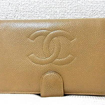 Auth Chanel Camellia Beige Lamb Leather Bifold Long Wallet Purse Coin Id Clutch Photo